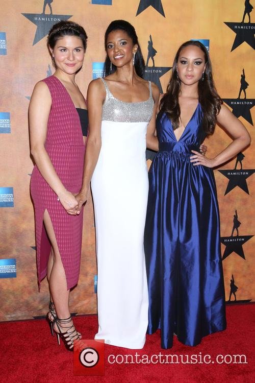 Phillipa Soo, Renee Elise Goldsberry and Jasmine Cephas Jones 2