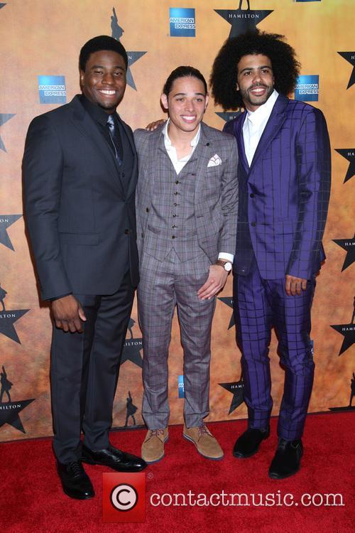 Okieriete Onaodowan, Anthony Ramos and Daveed Diggs 2