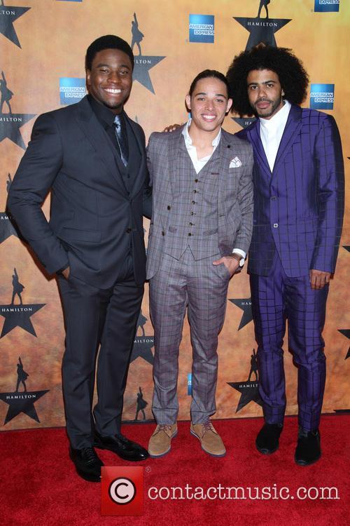 Okieriete Onaodowan, Anthony Ramos and Daveed Diggs 1