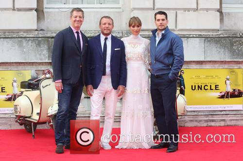 Guy Ritchie, Jacqui Ainsley and Henry Cavill