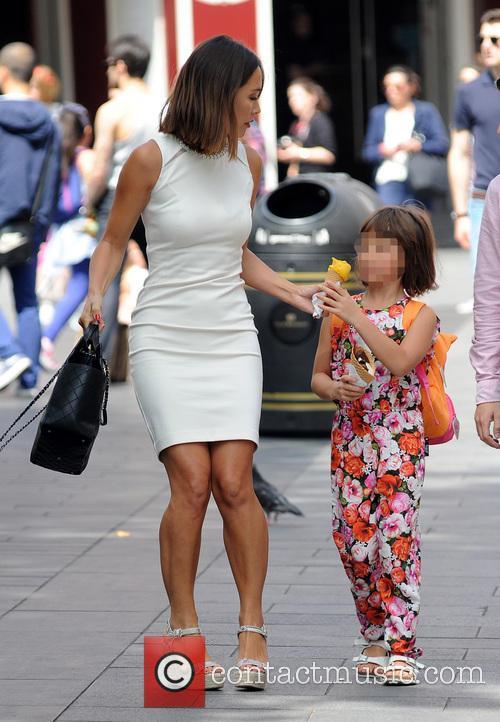 Myleene Klass goes for ice cream with daughter...