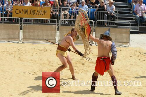 The Gladiator Games held at Guildhall Yard -...