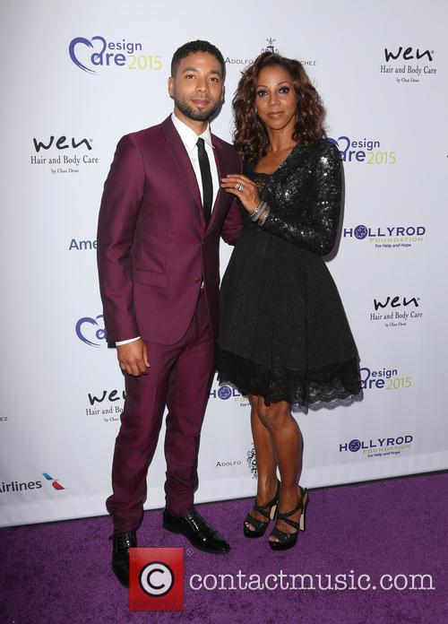 Jussie Smollett and Holly Robinson Peete 5