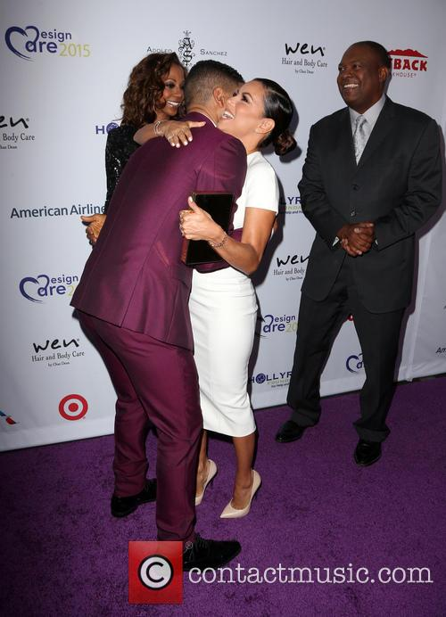 Jussie Smollett, Holly Robinson Peete, Eva Longoria and Rodney Peete 2