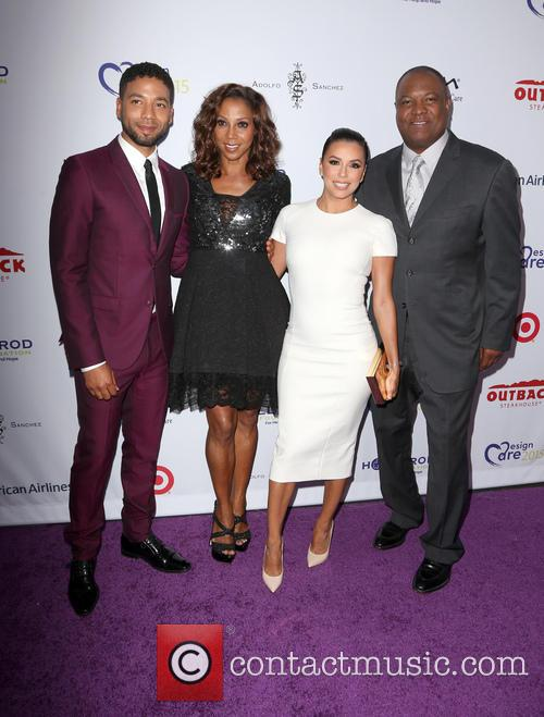 Jussie Smollett, Holly Robinson Peete, Eva Longoria and Rodney Peete 3