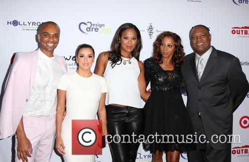 Travis London, Eva Longoria, Laila Ali, Holly Robinson Peete and Rodney Peete 1