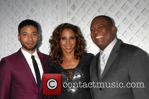 Jussie Smollett, Holly Robinson Peete and Rodney Peete 1