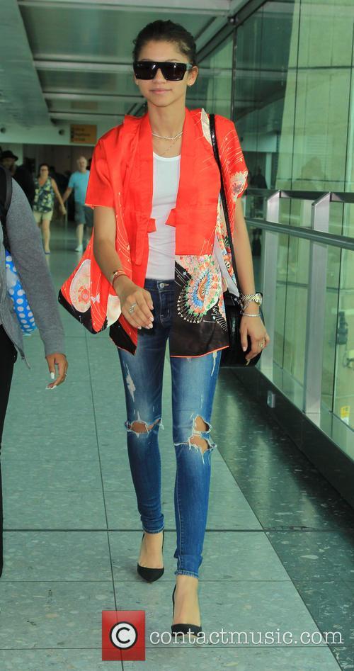 Zendaya arrives at Heathrow airport