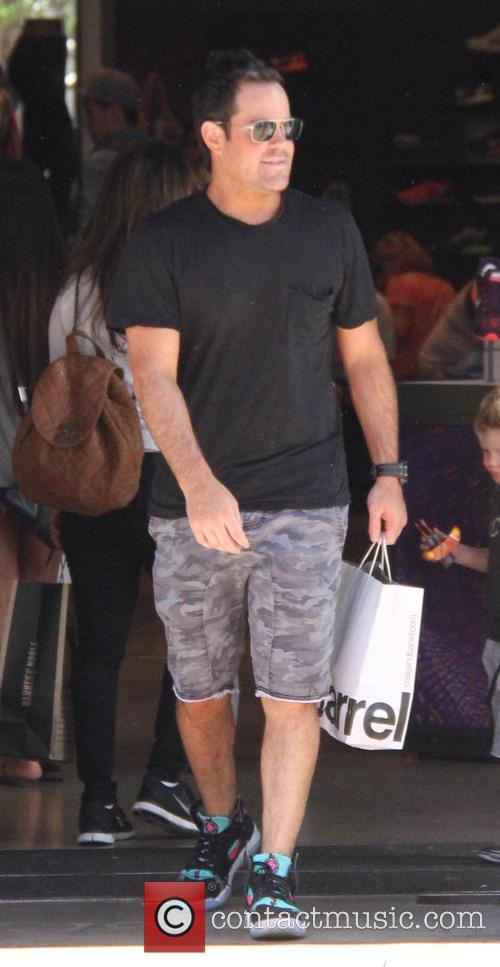 Mike Comrie shopping at The Grove
