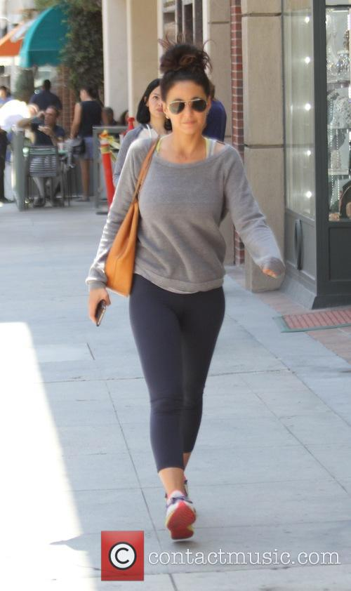 Emmanuelle Chriqui leaves out and about