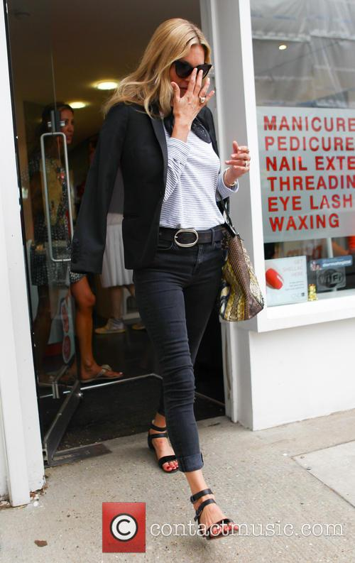 Kate Moss leaves a nail salon in London
