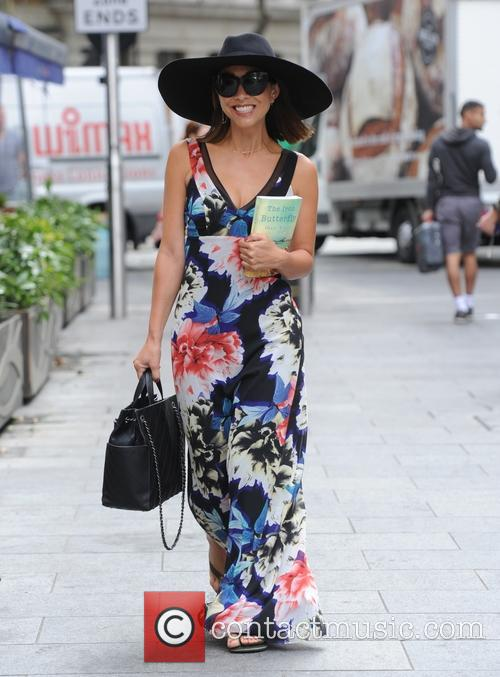 Myleene Klass arriving at Smooth Radio