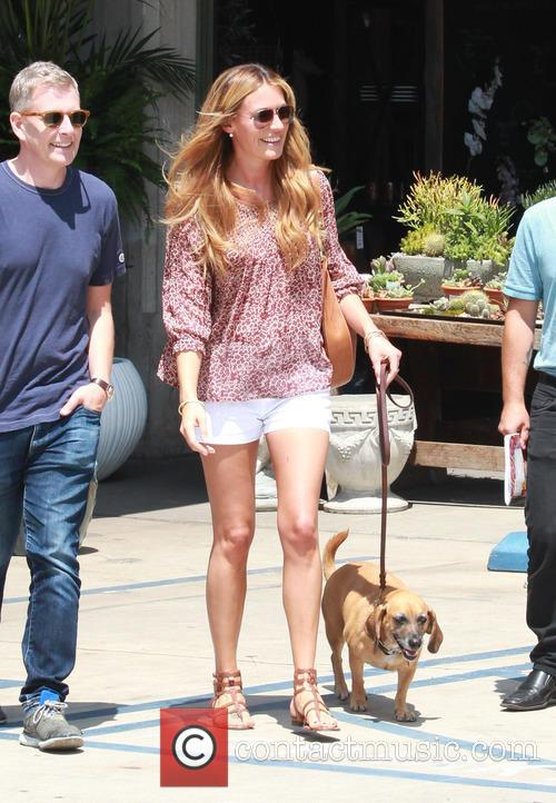 Cat Deeley shopping for plants at Rolling Greens