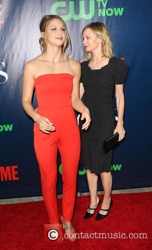Melissa Benoist and Calista Flockhart 2