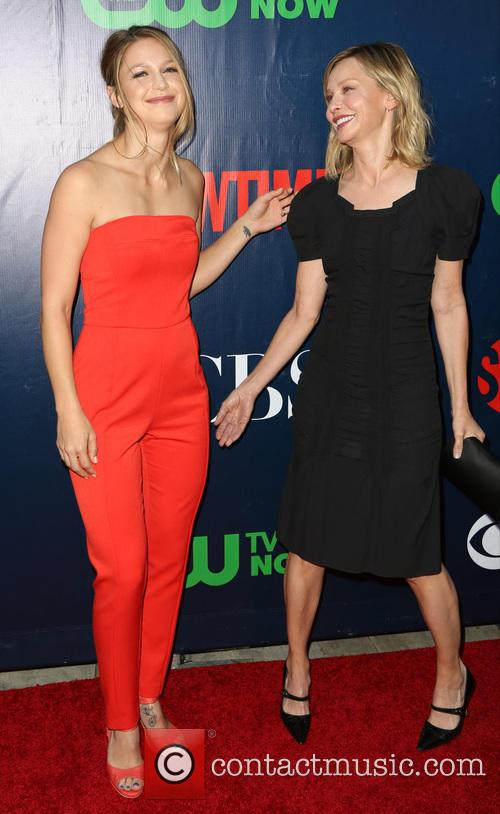 Melissa Benoist and Calista Flockhart 3