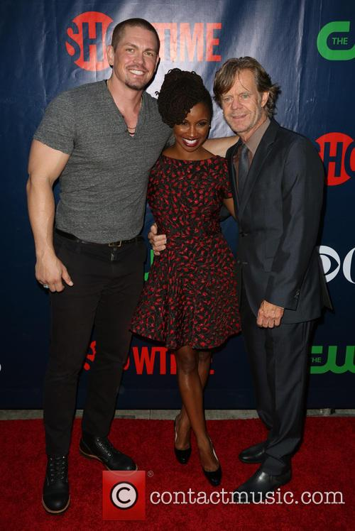 Steve Howey, Shanola Hampton and William H. Macy 3