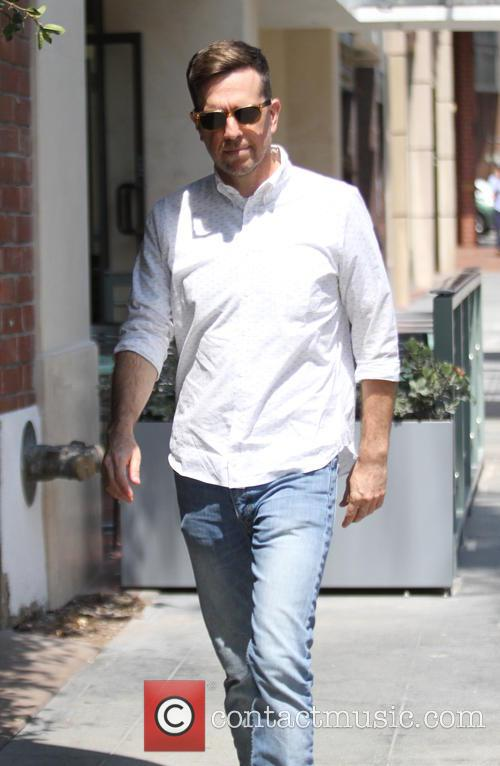Ed Helms goes shopping in Beverly Hills