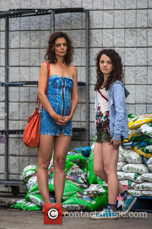 Katie Holmes and Stefania Owen 2