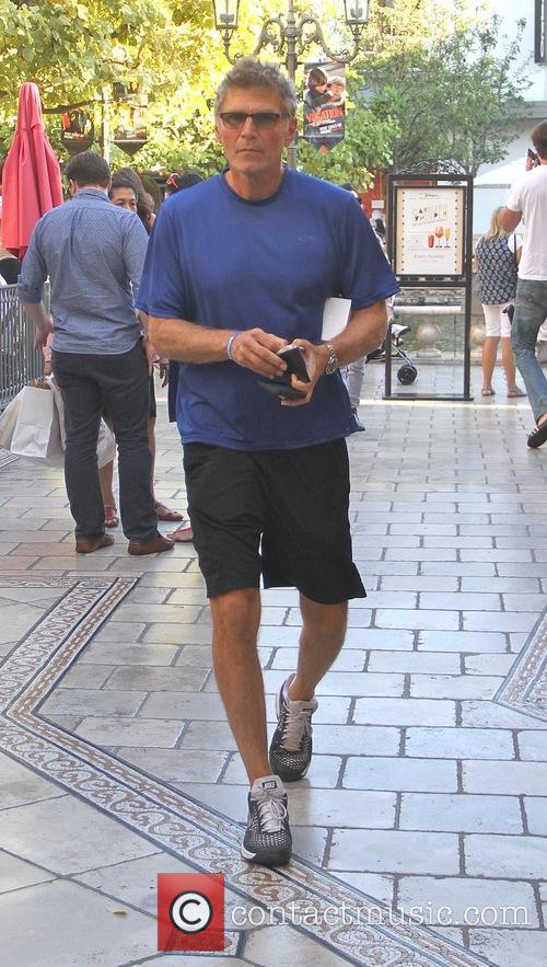 Nick Chinlund goes shopping at The Grove