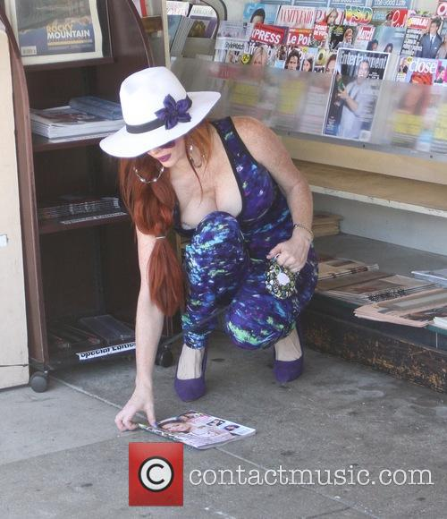 Phoebe Price out and about running errands