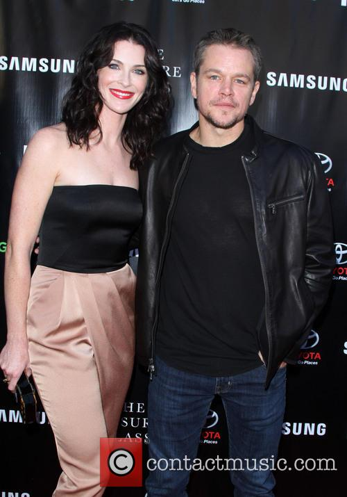 Bridget Regan and Matt Damon