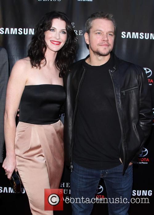 Bridget Regan and Matt Damon 1