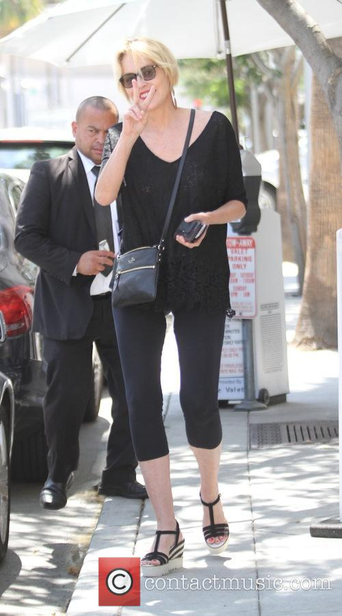 Sharon Stone has lunch at E Baldi in...