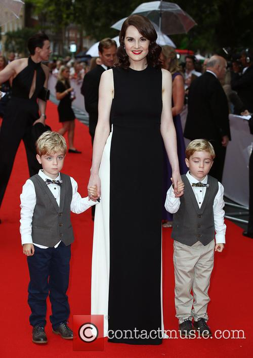 Michelle Dockery, Zac Barker and Oliver Barker 1