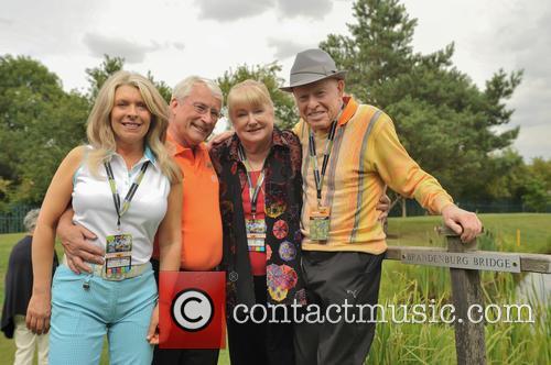 Celebrities attend the Farmfoods British Par 3 Championship...