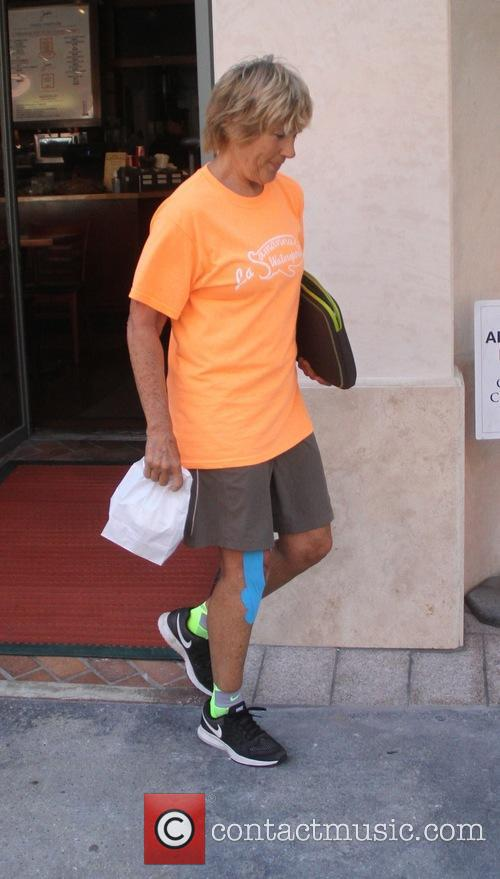 Diana Nyad leaves the doctors office with a...