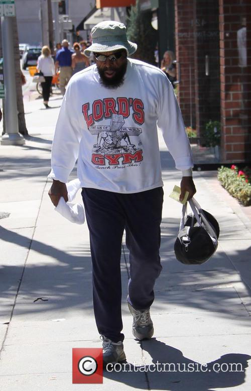 Mr. T out shopping in Beverly Hills