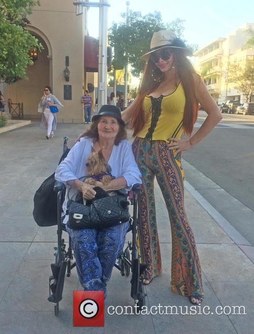 Phoebe Price out with her mother and dog
