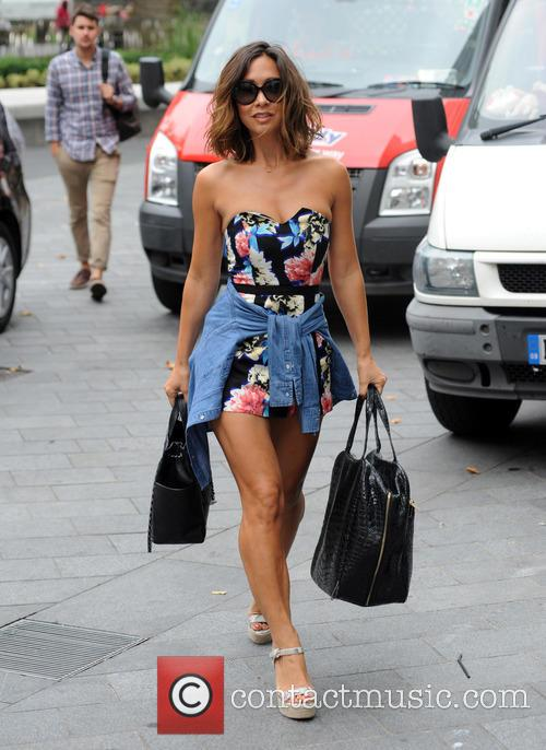 Myleene Klass arrives at Global House