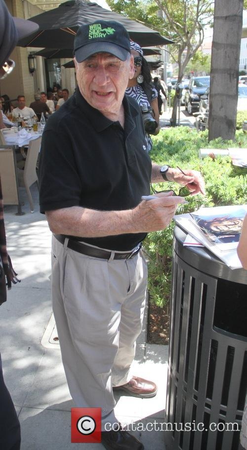 Mel Brooks signs autographs for fans in Beverly...