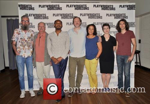 Les Waters, Philip Kerr, Larry Powell, Andrew Garman, Linda Powell, Emily Donahoe and Lucas Hnath 1