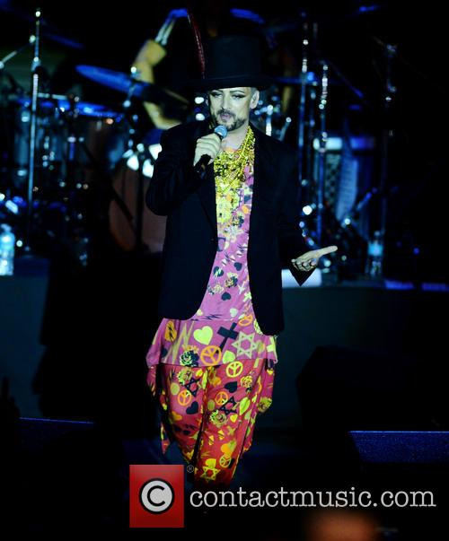 Culture Club perform at Bayfront Park amphitheater