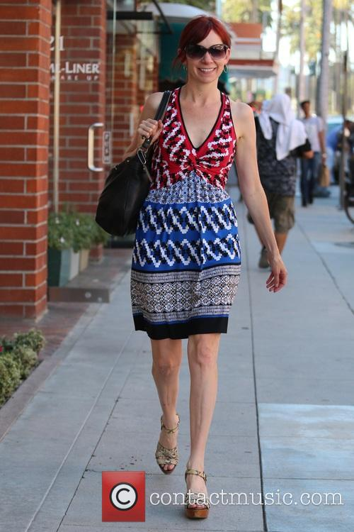 Carrie Preston out shopping in Beverly Hills