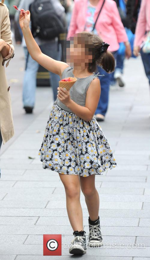 Myleene Klass out with her daughter in London