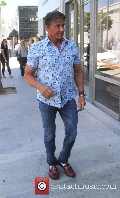 Sylvester Stallone out shopping on Rodeo Drive in...