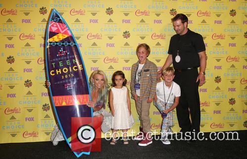 Britney Spears, Maddie Briann Aldridge, Jayden James Federline and Sean Federline 2