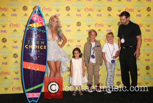 Britney Spears, Maddie Briann Aldridge, Jayden James Federline and Sean Federline 1