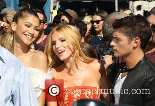 Zendaya, Bella Thorne and Gregg Sulkin 1