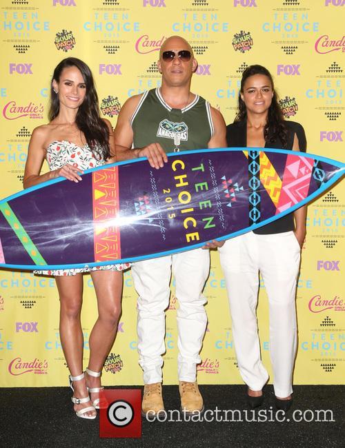 Jordana Brewster, Vin Diesel and Michelle Rodriguez 2