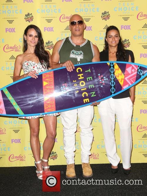 Jordana Brewster, Vin Diesel and Michelle Rodriguez 3