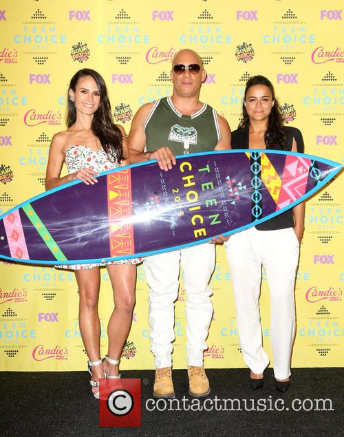 Jordana Brewster, Vin Diesel and Michelle Rodriguez 1