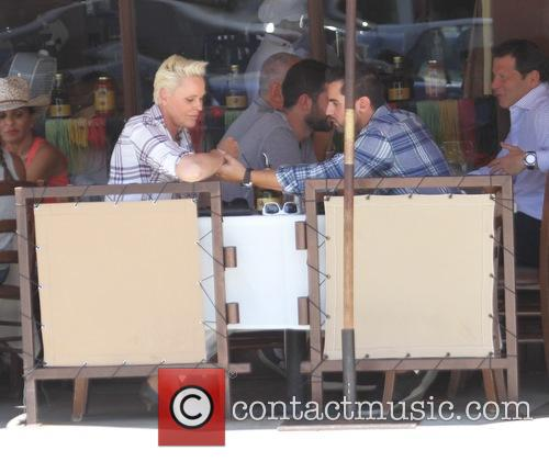 Brigitte Nielsen and Mattia Dessi have lunch at...