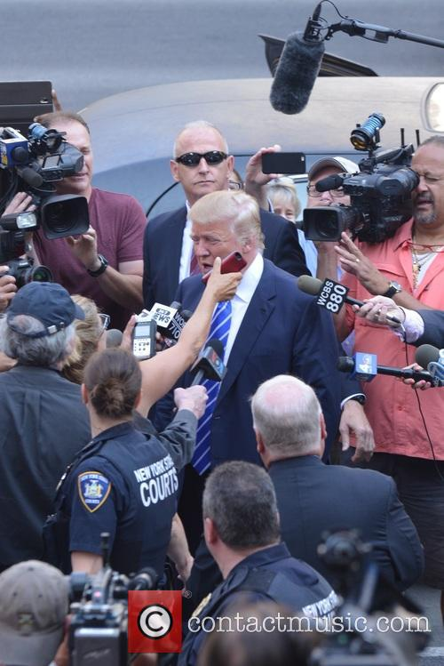 Donald Trump out in New York