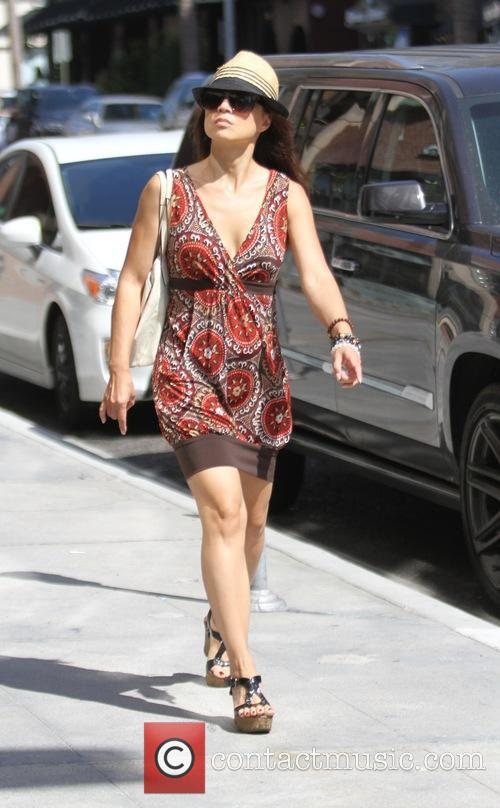 Ming-Na Wen goes shopping in Beverly Hills