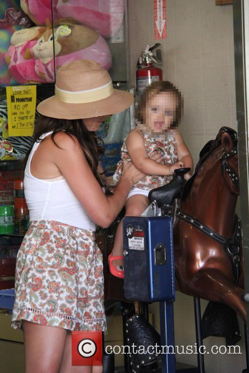 Tamara Ecclestone shopping at Tom's Toys shop