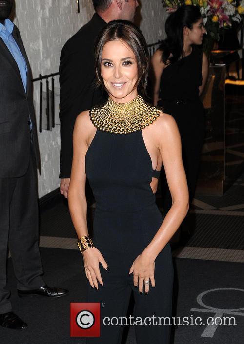 Cheryl Fernandez Versini arriving at her perfume launch...